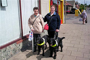 Picture of Jane and Annabel with Bramble and Amy working