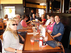 Picture of Puppy walkers lunch at Smith Haven Mall - Marilyn, Donna, Bernie, Cindy, Marie, John, unknown, Sunny, Annabel and John